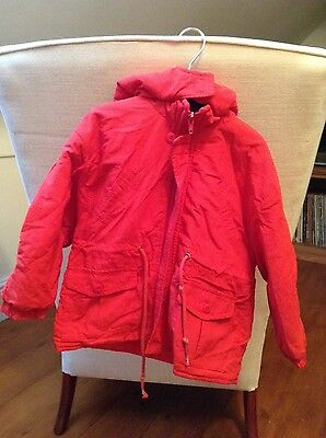 Coat Tumble Tots redwith hood for boy or girl
