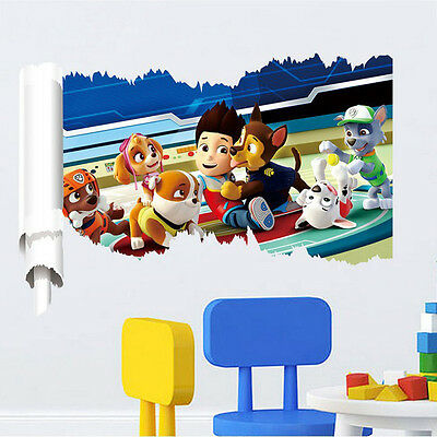 3D PAW Patrol Dog Wall Stickers Home Decor Kids Room Decoration PVC Posters