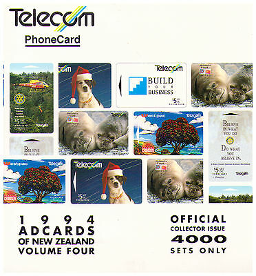 1994 Telecom New Zealand Phone Card Pack - Ad Cards Volume Four