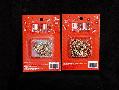 Lot Of 50 Decorative Gold Tone / Brass Christmas Ornament Hangers - NIB