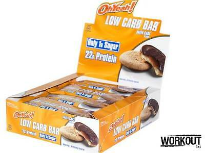 ISS Oh Yeah Protein Bar Jaffa Cake Low Carb 12x60g Dated 04/2017 Free P&P