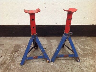 "Pair Of GLT Axle Stands 1500kg Capacity 380mm / 15"" Max Height"