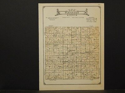 Iowa, Carroll County Map, 1923, Township of Pleasant, K2#73