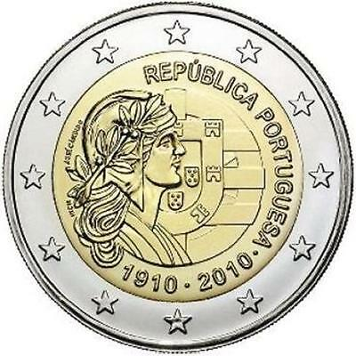 2 Euro Commemorative Portugal 2010 Republique  Disponible De Suite Unc Neuf