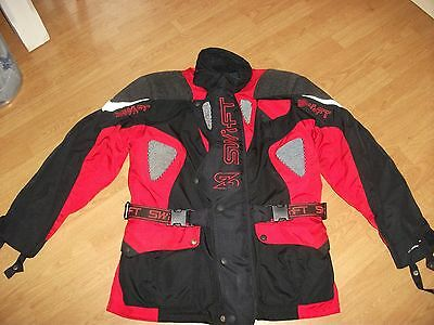 Swift Motorcycle Motorbike Jacket Size L With Armour