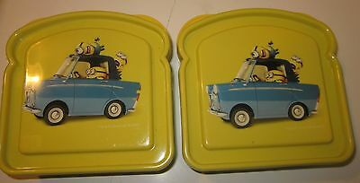 2 minions sandwich shaped holder tupperware bpa free