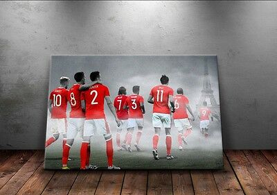 Wales Euro 2016 Heroes Wall Canvas A3