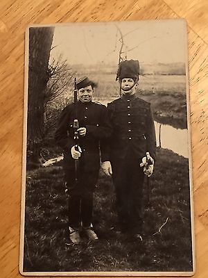 """WWI British CDV Photo  4""""x6"""" , 2 Young Soldiers"""
