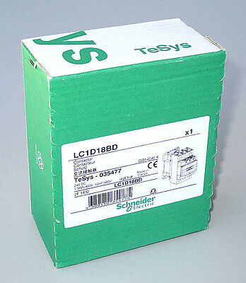 FREE PRIORITY MAIL Schneider LC1D18BD Contactor 3 Pole 24V DC, 18 FLA, 32 A res.