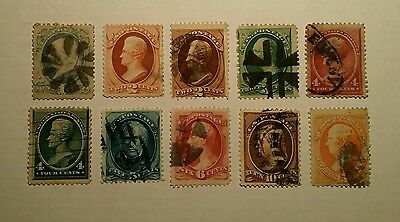 USA early perf stamps. Nice cancels. See description