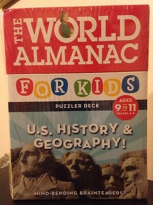 The World Almanac U.S. History & Geography! Ages 9-11 Puzzler Deck NEW