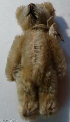 """1950's SCHUCO  7CM 2 1/2"""" BLOND 5 WAY JOINTED MINIATURE BEAR"""