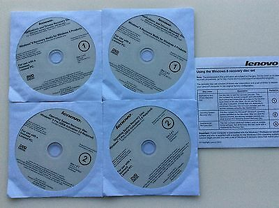 Lenovo Windows 8 Pro Operating Systems Recovery Disc and Drivers OEM 3.0