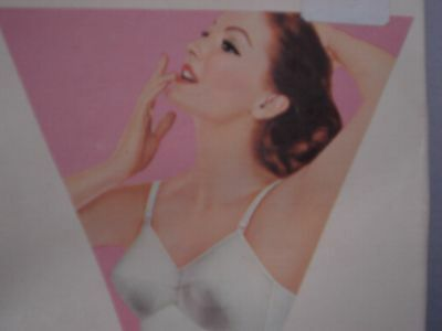 Vintage Exquisite Form White Bullet Bra 38 D pin up clothing girl 1950's NIB