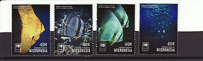 Micronesia 2014 MNH - WWF -  Fishes - set of 4 stamps