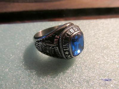U.S. Marine Corps Men's Ring by Jostens with Blue Faceted Stone Size 10.75