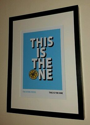 The Stone Roses Framed Music Print This Is The One Manchester Oasis Music