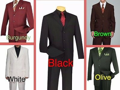 Big & Tall Men's HIGH QUALITY Suit - 3 Button - UP TO SIZE 70  ($199)- 3 Colors