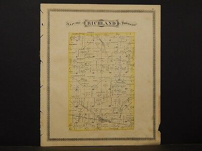 Indiana, Grant County Map, 1877, Township of Richland, K2#86