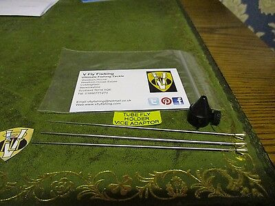 V Fly Pro Dressers Tube Fly Pins With Vice Adaptor 3 Sizes Included