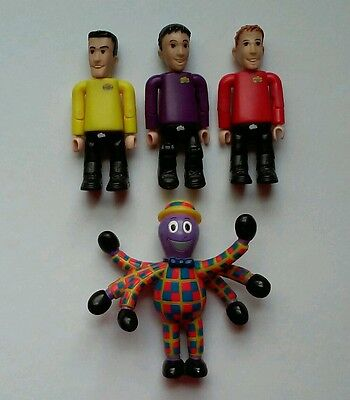 Wiggles Figures Yellow Red Purple Jointed for Big Red Car 2003 Henry Octopus