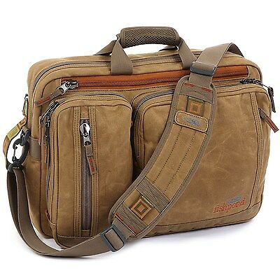 Fishpond Boulder Fishing Briefcase / Backpack W/ Laptop Compartment Waxed Canvas
