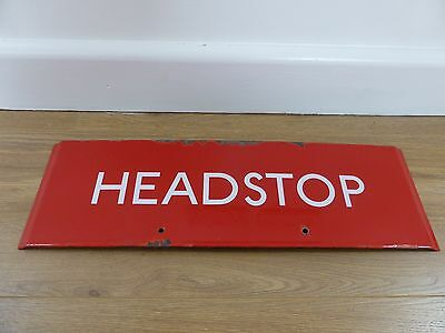 'headstop' London Transport Bus Stop Sign