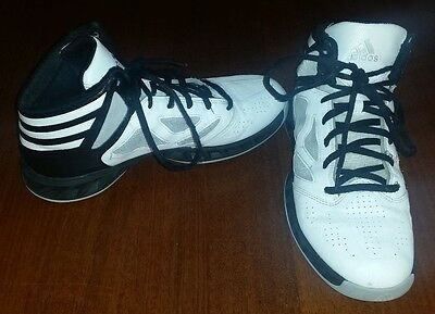 Adidas High Cut Basketball Shoes: US Size 10.5 (Toe to Heal 32.5 cm)