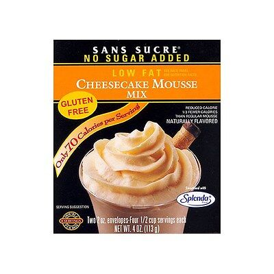 Sans Sucre Mousse Mix Cheesecake,Low Fat,No Sugar Added,Low Calories,Gluten Free