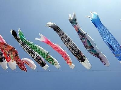 40cm-150cm Koinobori Japanese Carp Wind Sock Koi Nobori Anime Colorful Fish Flag
