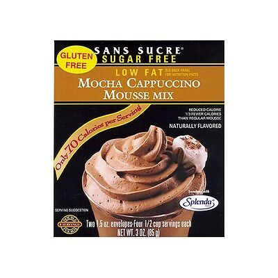 Sans Sucre Mousse Mix Mocha Cappuccino, Low Fat, No Sugar Added, Gluten Free