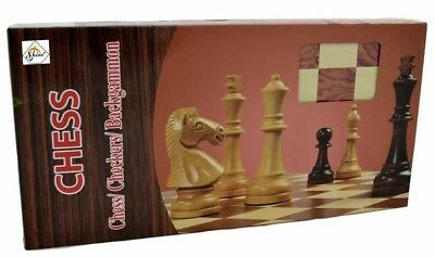 "12"" Inch Classic Wooden Travel Chess Set Folding Board Game Walnut Wood Finish"