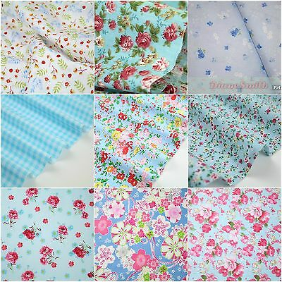 Floral 100% cotton fabric dress clothes and quilting sold by 10m length