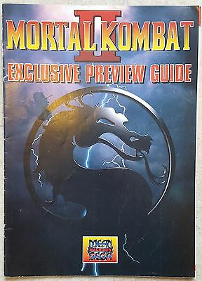Mortal Kombat 2 Preview Guide *Mean Machines Sega Pullout*