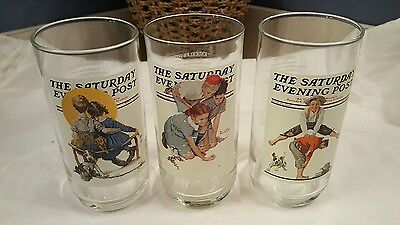 Saturday Evening Post Collector Series Arby's Glasses Norman Rockwell