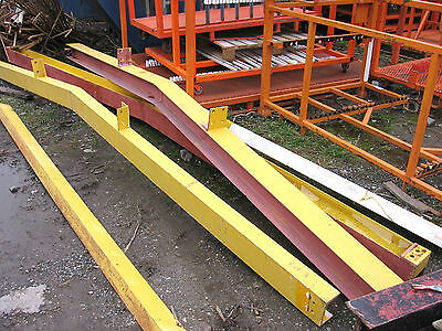 4no USED STEEL FRAME BUILDING PORTAL FRAME TRUSSES APPROX 16FT WIDE