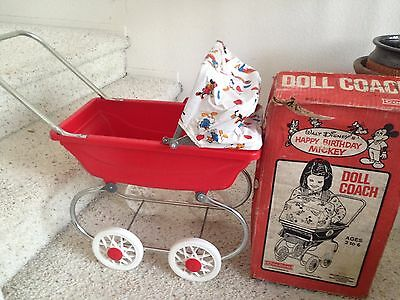 Vintage Walt Disney Coleco Doll Coach/buggy Stroller...1978 With Box