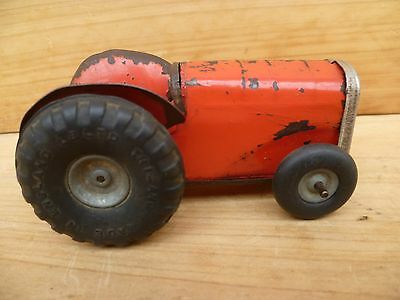 Vintage Old English Made Minic Tractor, Old Tin Toy (C647)