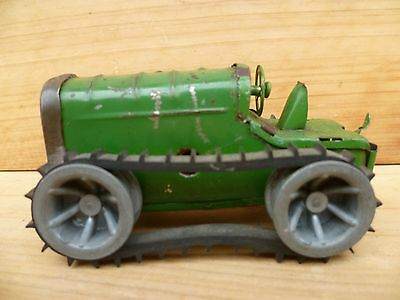 Vintage Old English Made Minic Tri-Ang Clockwork Bulldozer, Tractor Toy (C648)