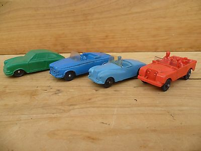 Vintage Old Plastic Kids Toy Cars, Jeep 'x4' Lot Of Old Toy Cars (C655)
