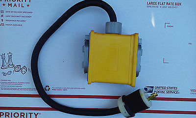 Hubbell L5-20 twist lock to three output switched 110V plugs Generator Breakout
