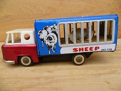Vintage Old Large Size Tin Toy Sheep Truck, Old Tin Truck (C658)