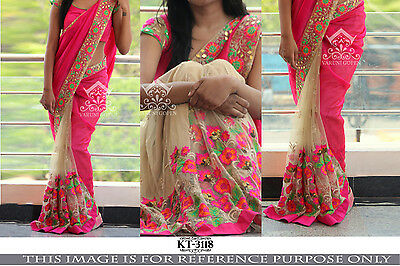 woman designer  bollywood sari indian pakistani lehenga partywear saree