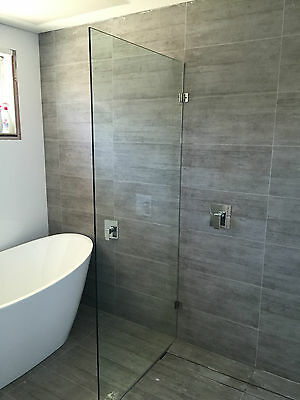 Frameless Shower Screen Panel 982x2000 10mm. FREE delivery in Sydney.