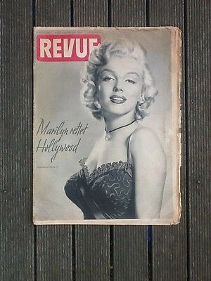 """Marilyn Monroe Front Cover/Article German Magazine """"Revue"""". 1954"""