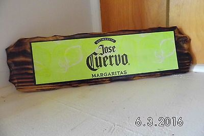 Handmade Rustic Wooden Jose Cuervo Authentic Margaritas Bar Sign Original 2016