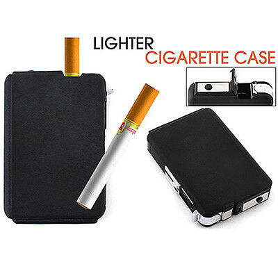 Automatic Wind Proof Lighter Pocket Ejection Butane Cigarette Case Box Newest