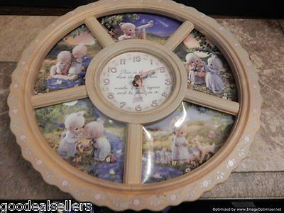 Precious Moments Loving Moments Porcelain Clock Set Works - Some Cond. Issues