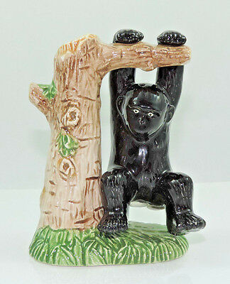 Salt and Pepper shaker- Five & Dime Ape and tree ceramic 1997 unique