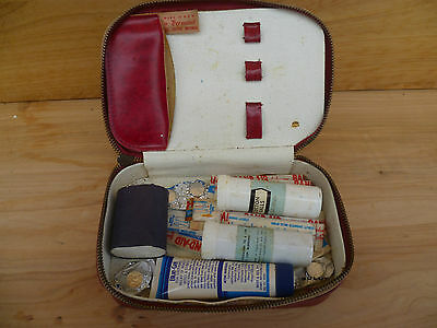 Vintage Old Medical First Aid Kit With Case (A149)